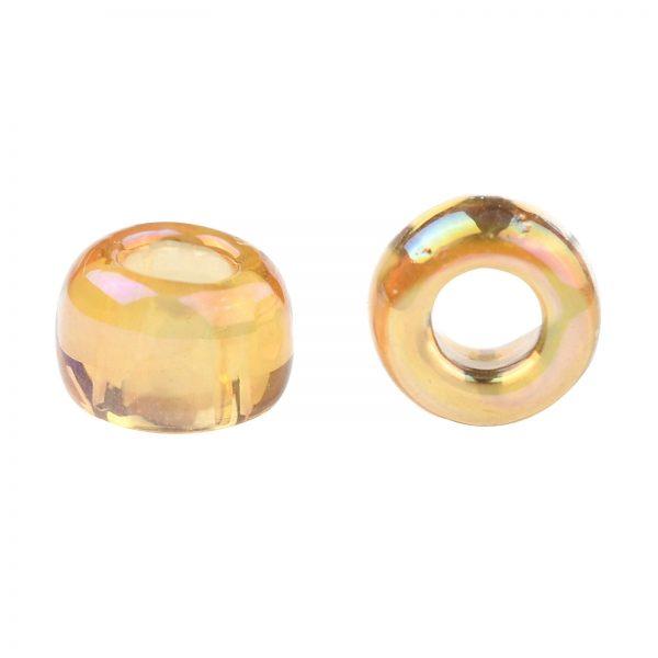 SEED TR08 0162 2 TOHO #162 8/0 Transparent AB Light Amber Round Seed Beads, 10g/bag