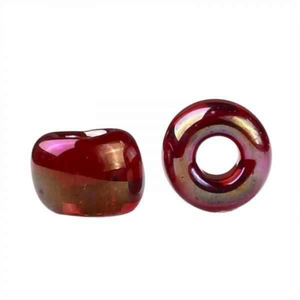 SEED TR08 0165C 2 TOHO #165C 8/0 Transparent AB Ruby Round Seed Beads, 450g/bag