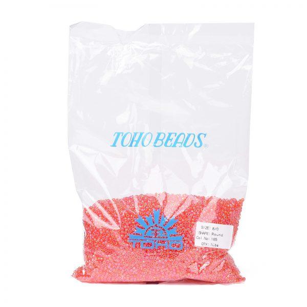 SEED TR08 0165 4 TOHO #165 8/0 Transparent AB Light Siam Ruby Round Seed Beads, 450g/bag