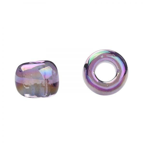 SEED TR08 0166D 2 TOHO #166D 8/0 Transparent AB Sugar Plum Round Seed Beads, 10g/bag