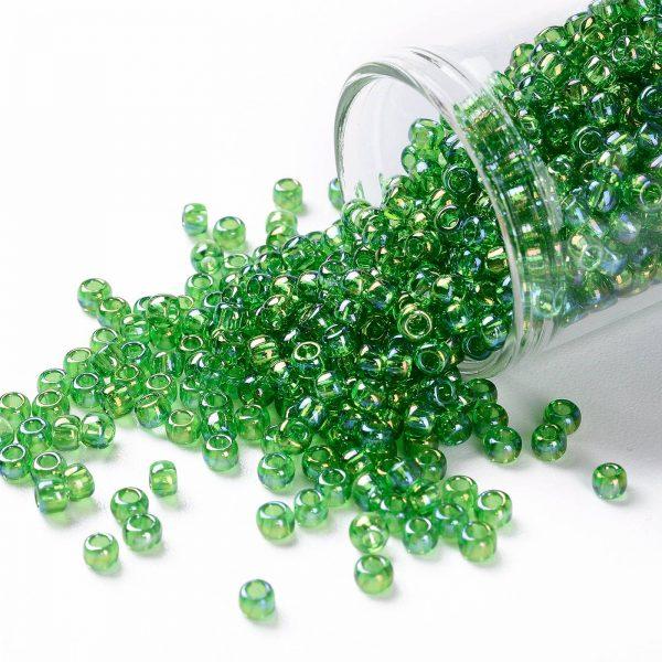 SEED TR08 0167 TOHO #167 8/0 Transparent AB Peridot Round Seed Beads, 10g/bag