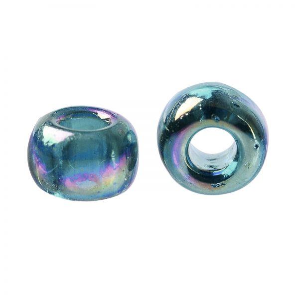 SEED TR08 0167BD 2 TOHO #167BD 8/0 Transparent AB Teal Round Seed Beads, 450g/bag