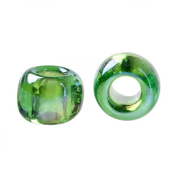 SEED TR08 0167 2 TOHO #167 8/0 Transparent AB Peridot Round Seed Beads, 10g/bag