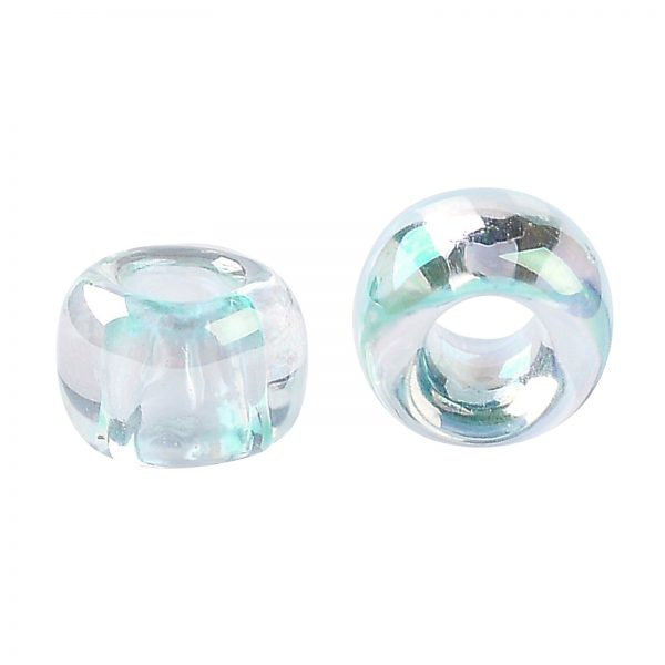 SEED TR08 0170 2 TOHO #170 8/0 Blue Topaz Dyed Transparent Rainbow Round Seed Beads, 450g/bag