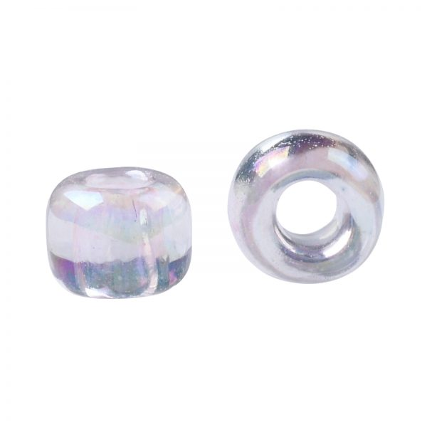 SEED TR08 0171L 2 TOHO #171L 8/0 Dyed Light Pink Transparent Rainbow Round Seed Beads, 450g/bag