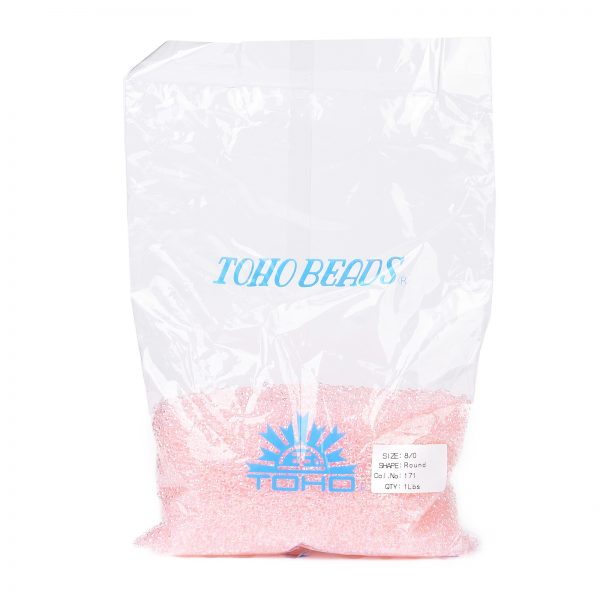 SEED TR08 0171 4 TOHO #171 8/0 Transparent Dyed AB Ballerina Pink Round Seed Beads, 450g/bag