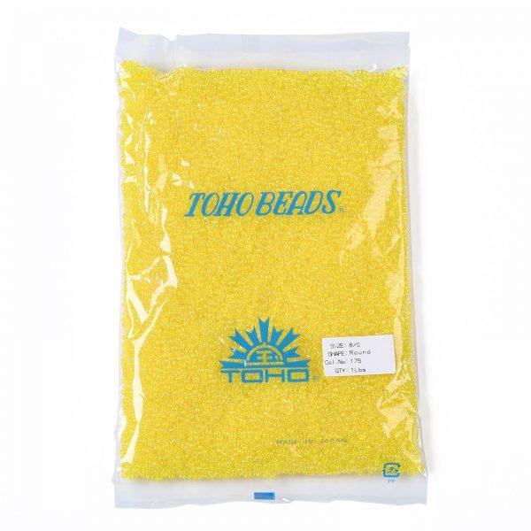 SEED TR08 0175 4 TOHO #175 8/0 Transparent AB Lemon Round Seed Beads, 450g/bag