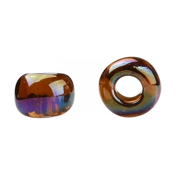 SEED TR08 0177 2 TOHO #177 8/0 Transparent AB Smoky Topaz Round Seed Beads, 10g/bag