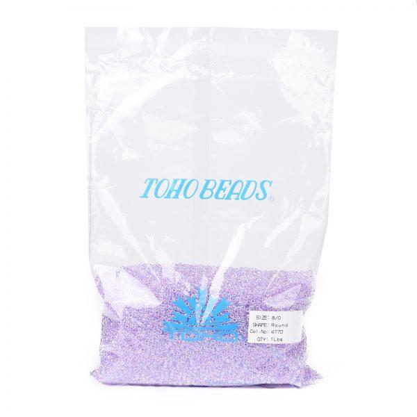 SEED TR08 0477D 4 TOHO #477D 8/0 Transparent AB Foxglove Round Seed Beads, 450g/bag