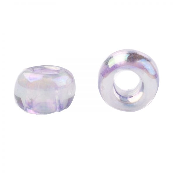 SEED TR08 0477 2 TOHO #477 8/0 Transparent Dyed AB Lavender Mist Round Seed Beads, 450g/bag