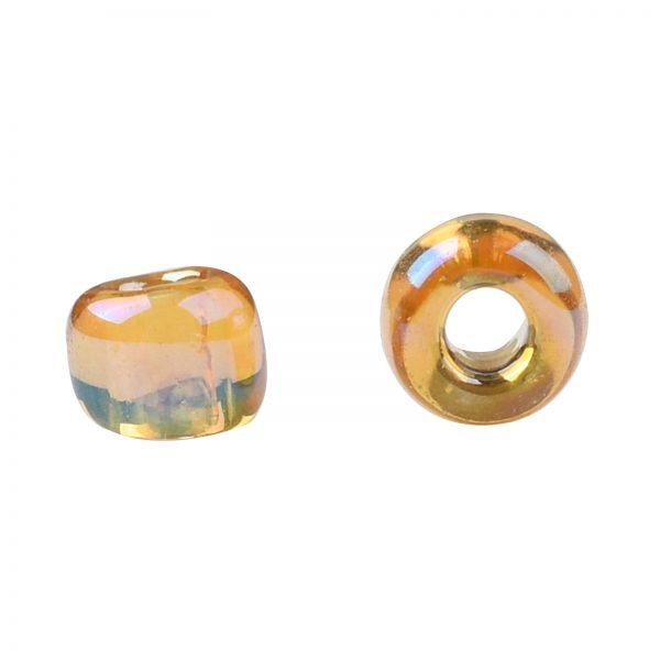 SEED TR11 0162B 2 TOHO #162B 11/0 Transparent AB Medium Topaz Round Seed Beads, 10g/bag