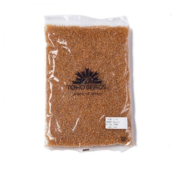 SEED TR11 0162B 4 TOHO #162B 11/0 Transparent AB Medium Topaz Round Seed Beads, 450g/bag