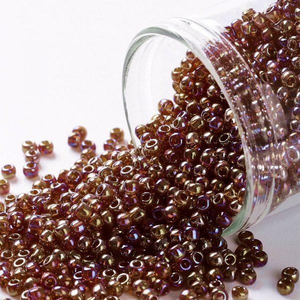 SEED TR11 0165D TOHO #165D 11/0 Transparent AB Ruby Hyacint Round Seed Beads, 10g/bag