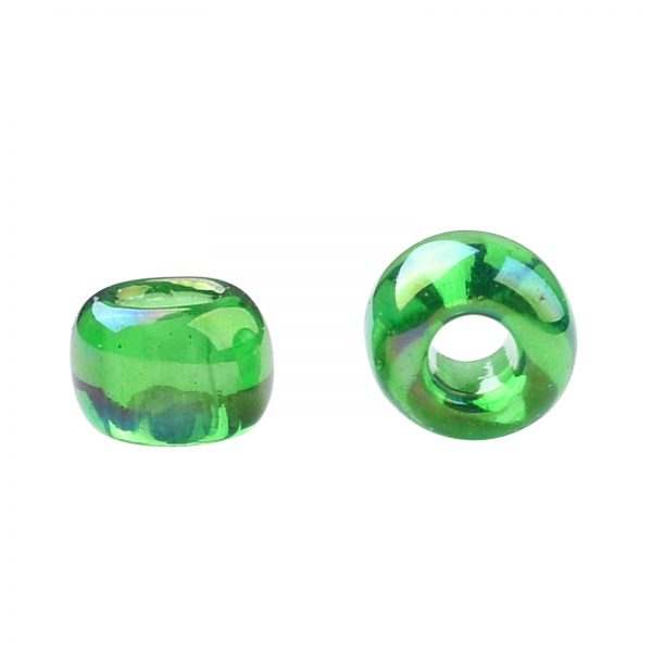SEED TR11 0167B 2 TOHO #167B 11/0 Transparent AB Grass Green Round Seed Beads, 10g/bag