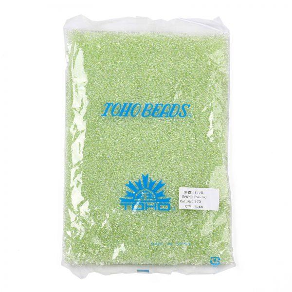 SEED TR11 0173 4 TOHO #173 11/0 Transparent Dyed AB Lemon Mist Round Seed Beads, 450g/bag