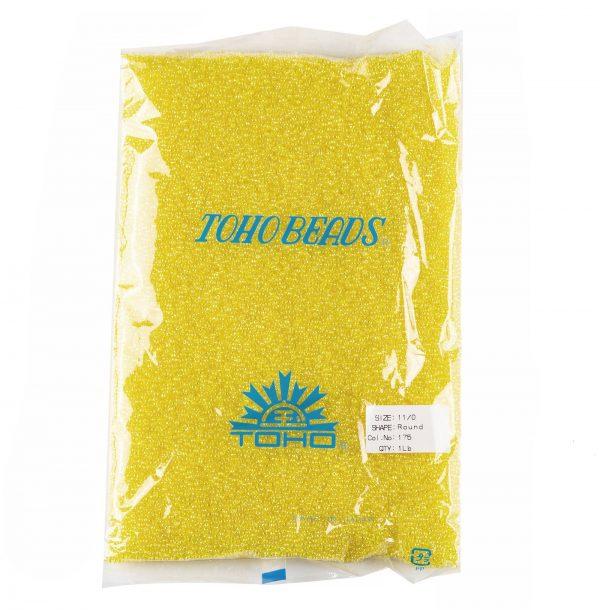 SEED TR11 0175 4 TOHO #175 11/0 Transparent AB Lemon Round Seed Beads, 450g/bag