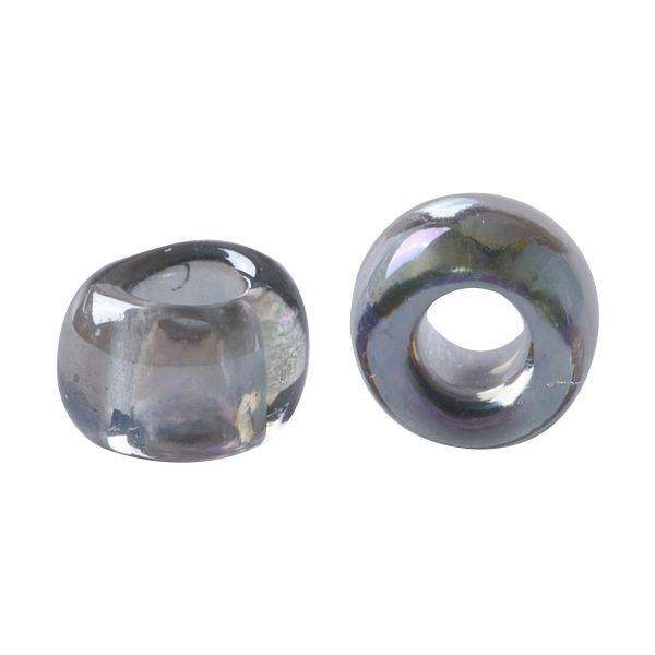 SEED TR11 0176 2 TOHO #176 11/0 Transparent AB Black Diamond Round Seed Beads, 450g/bag