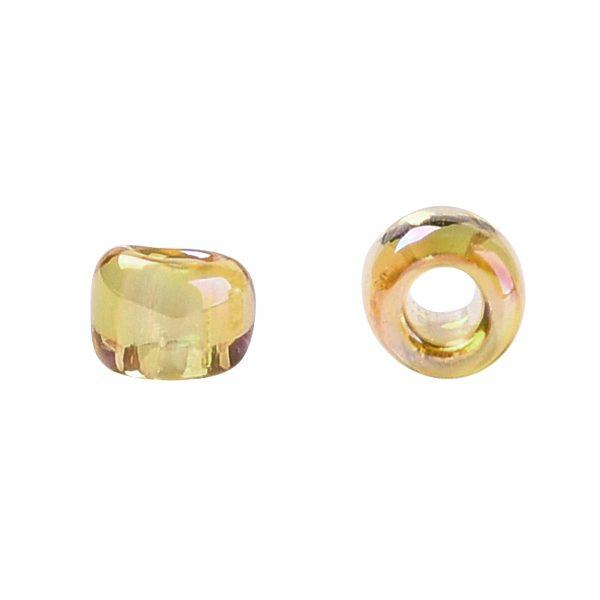 SEED TR15 0162 2 TOHO #162 15/0 Transparent AB Light Amber Round Seed Beads, 10g/bag