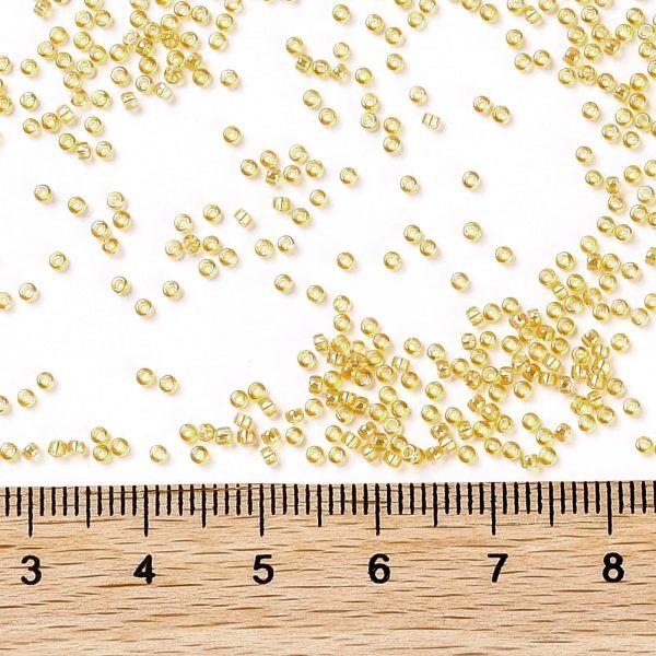 SEED TR15 0162 3 TOHO #162 15/0 Transparent AB Light Amber Round Seed Beads, 10g/bag