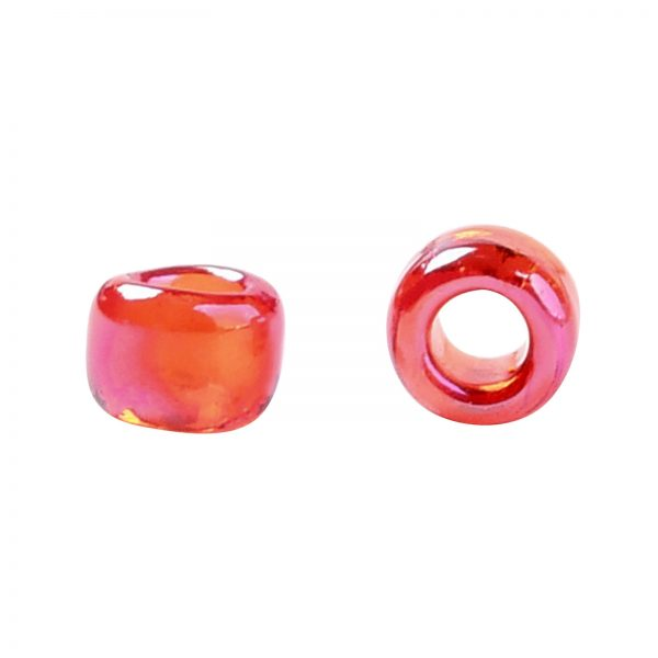 SEED TR15 0165 2 TOHO #165 15/0 Transparent AB Light Siam Ruby Round Seed Beads, 10g/bag