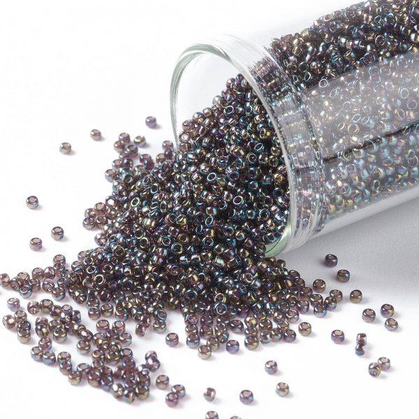 SEED TR15 0166C TOHO #166C 15/0 Transparent AB Amethyst Round Seed Beads, 450g/bag