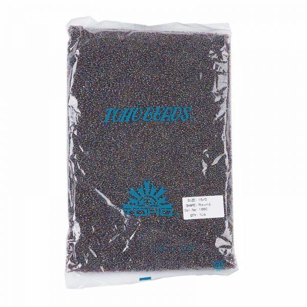 SEED TR15 0166C 4 TOHO #166C 15/0 Transparent AB Amethyst Round Seed Beads, 450g/bag