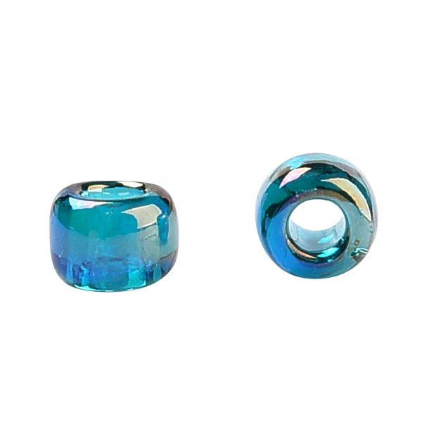 SEED TR15 0167BD 2 TOHO #167BD 15/0 Transparent AB Teal Round Seed Beads, 10g/bag