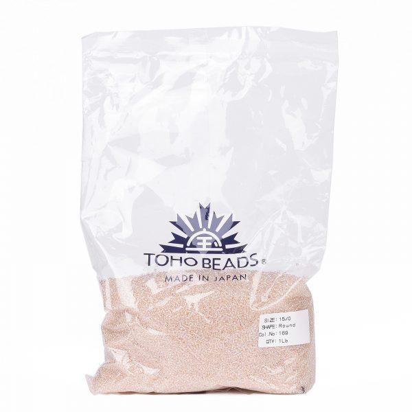 SEED TR15 0169 4 TOHO #169 15/0 Transparent AB Rosaline Round Seed Beads, 450g/bag