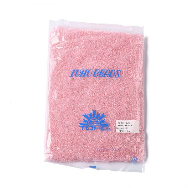 SEED TR15 0171 4 TOHO #171 15/0 Transparent Dyed AB Ballerina Pink Round Seed Beads, 450g/bag