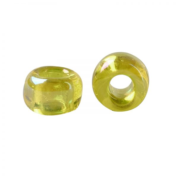 SEED TR15 0175 2 TOHO #175 15/0 Transparent AB Lemon Round Seed Beads, 450g/bag
