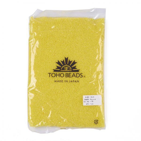SEED TR15 0175 4 TOHO #175 15/0 Transparent AB Lemon Round Seed Beads, 450g/bag