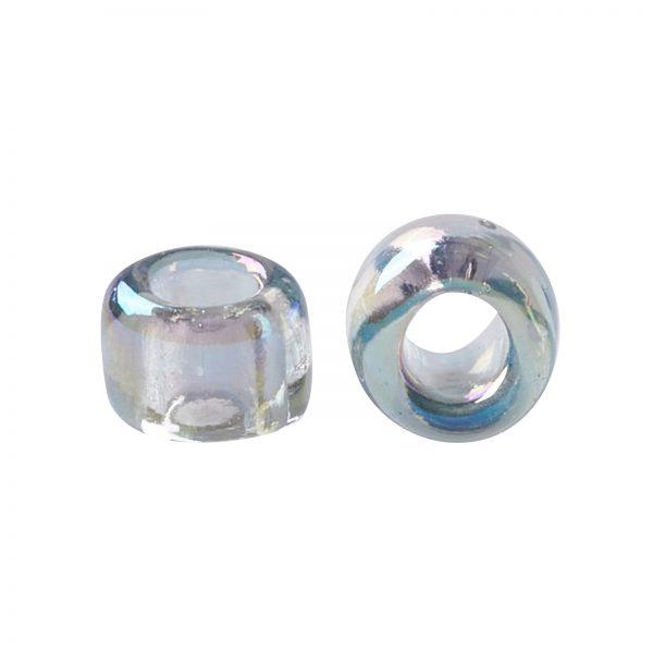 SEED TR15 0176 2 TOHO #176 15/0 Transparent AB Black Diamond Round Seed Beads, 450g/bag