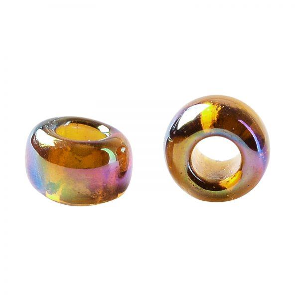 SEED TR15 0177 2 TOHO #177 15/0 Transparent AB Smoky Topaz Round Seed Beads, 450g/bag