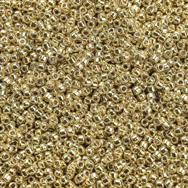 SEED XTR11 PF0557 1 TOHO #PF557 11/0 Permafinish Opaque Galvanized Starlight Round Seed Beads, 50g/bag