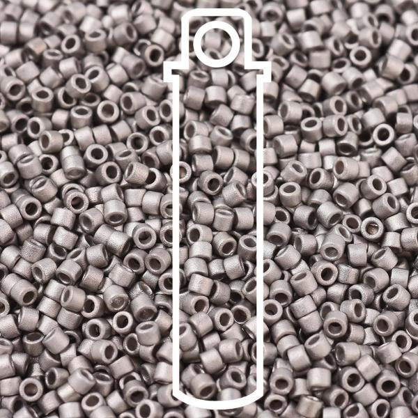 X SEED J020 DB0338 1 MIYUKI DBS0338 Delica Beads 15/0 - Matte Palladium Plated, 10g/tube
