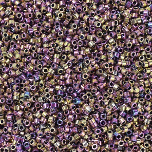 X SEED J020 DB0541 1 MIYUKI DB-541 Delica Beads 11/0 - (DB-502) Opaque Spectrum Gold (Palladium Plated AB), 100g/bag