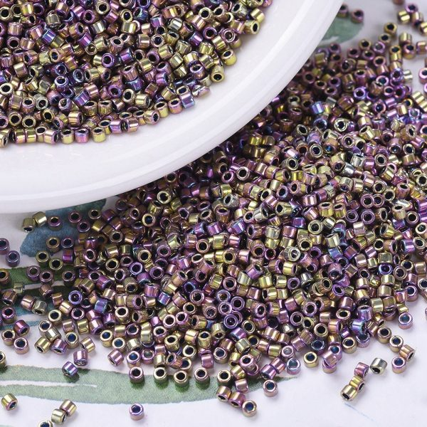 X SEED J020 DB0541 3 MIYUKI DB-541 Delica Beads 11/0 - (DB-502) Opaque Spectrum Gold (Palladium Plated AB), 100g/bag