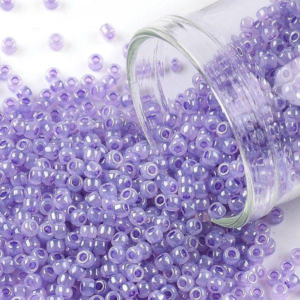 X SEED TR11 0916 TOHO #916 11/0 Lavender Ceylon Pearl Round Seed Beads, 10g/bag