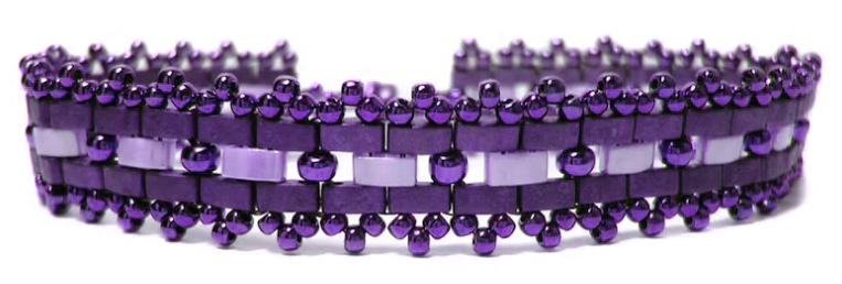 Ladder stitch - bracelet