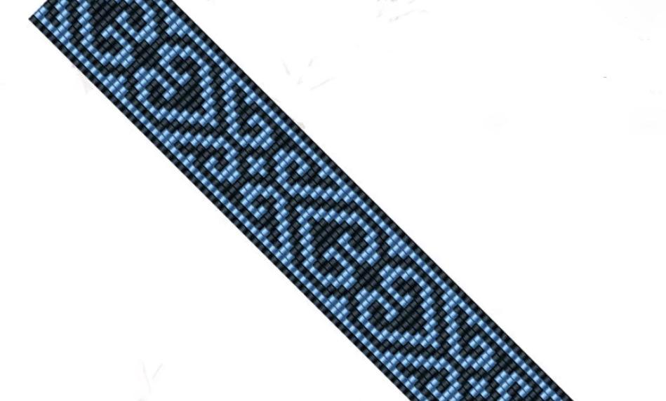 Square stitch - bracelet