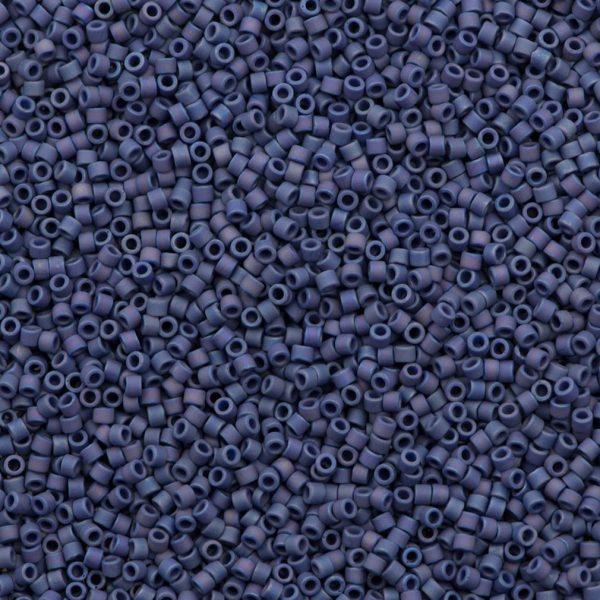 miyuki delica 11 0 seed bead MIYUKI DB2319 Delica Beads 11/0 - Matte Opaque Glazed Navy Blackberry Merlot AB, 7.2 Gram/bag