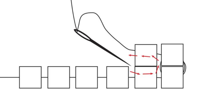 square stitch step 2